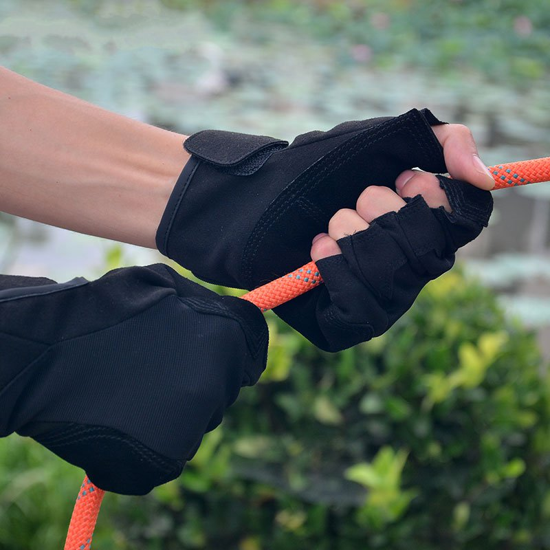 Good Quality Half Finger Slip Gloves Outdoor Climbing Rope Rock Mountaineering Cycling Downhill Fishing Equipment
