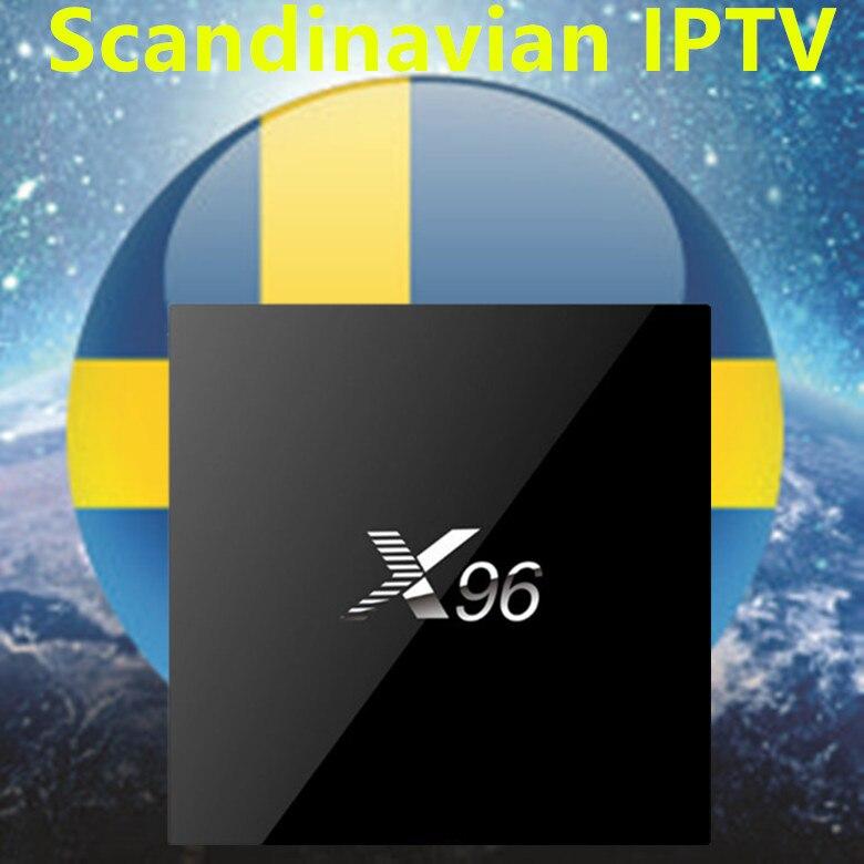 Швеция ТВ X96 2G16G Android tv BOX с Европа/Швеция/французский/Германия/Италия/XXX/США/Великобритания 4000 + скандинавские каналы телеприставка