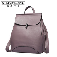 William Cardslave Brand 2016 New Winter Fashion Leather Ladies Backpack Multifunctional Bag