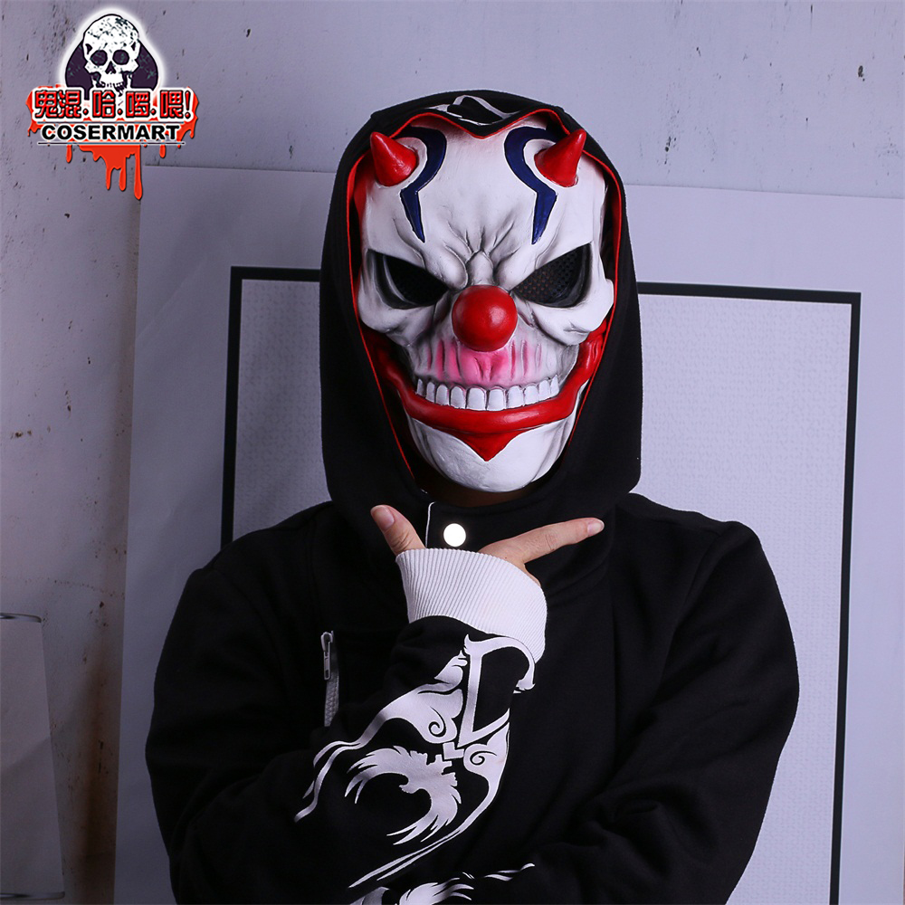 PAYDAY 2 Mask Rust Masks Game Payday 2 mask Cosplay Resin Red Nose Halloween Party Prop (9)