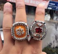 2016 New  High Quality 2 pcs 2015 Clemson Tigers Orange Bowl Championship Rings, High Quality Christmas Gift Rings For Men