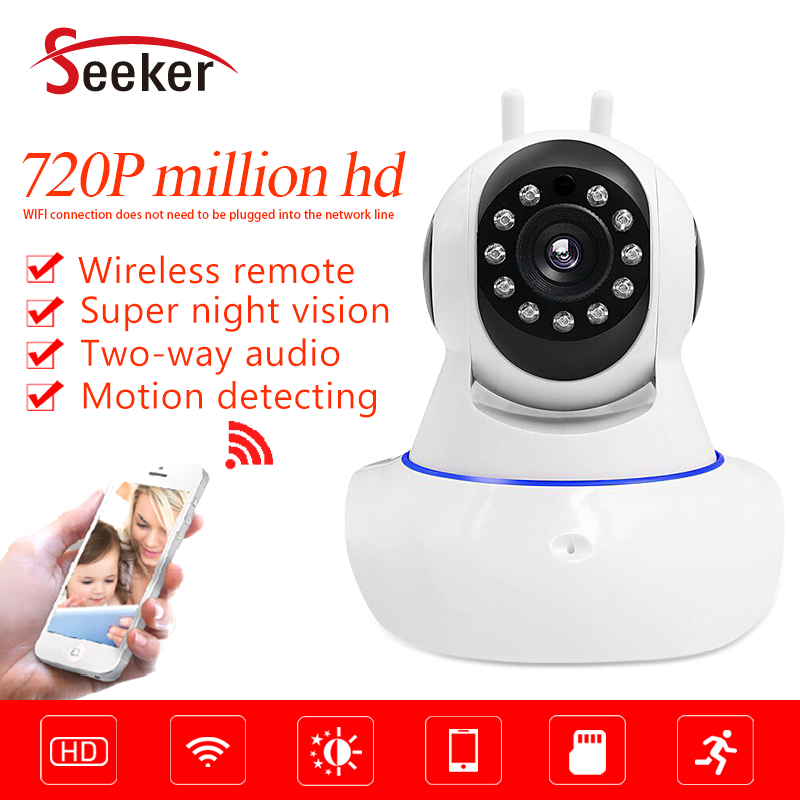 Seeker V380 App Home Security Camera HD Wireless Camera 720P Pan Tilt Smart Wifi Audio Camera Baby Monitor P2P Cloud bmsoar wifi ip camera ir night vision 720p hd p2p network wireless pan tilt home security baby monitor yoosee