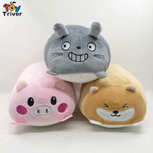 24cm Totoro Rabbit Shiba Inu Dog Plush Toy Triver Stuffed Doll Cartoon Baby Kids Children Birthday Gift Hand Pillow Home Decor