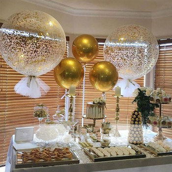50pcs 22inch Colorful 4D Round Sphere Shaped Aluminum Foil Balloon Wedding Marriage Birthday Party Decor Supplies wholesale