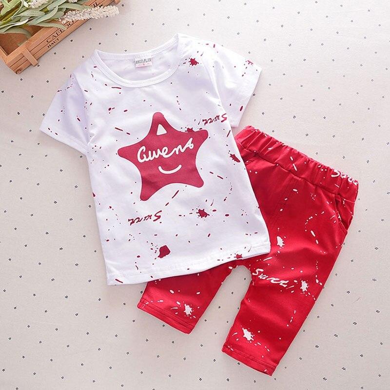 2018 Summer Baby Boy Clothes Sets Short Sleeve Sport Suit Children Clothing Boys Set Cotton Outfit Suit Costume For Kids Clothes
