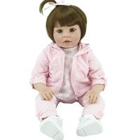 2017 хлопок тела Reborn Прекрасные моды принцесса куклы силиконовые возрождается девушки игрушки подарок для пупсик