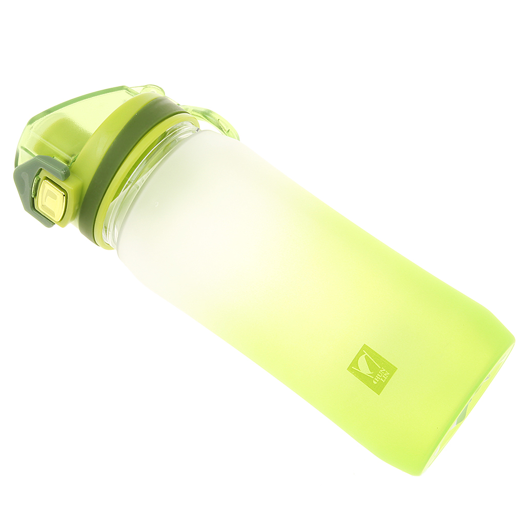 Plastic Frosted Leak proof Water Bottle Portable Gradient Space Snap ...