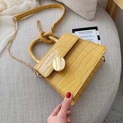 Женская мини-сумка через плечо, дизайнерская сумка кросс-боди из искусственной кожи с текстурой под камень, небольшая сумка-мессенджер с це...