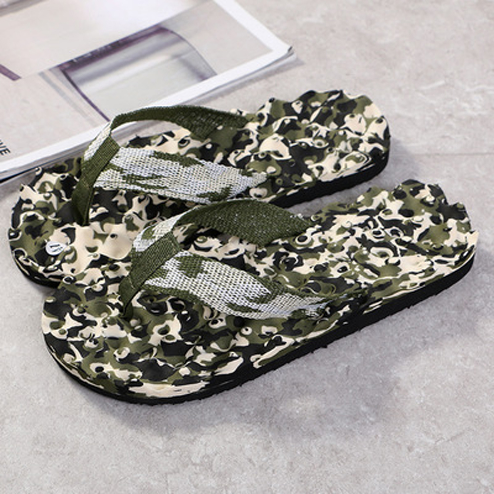Summer Camouflage Flip Flops Shoes Sandals Slipper Indoor Outdoor Leather Womens Mens Slippers Beach Shoes Flip-flops Non Slip