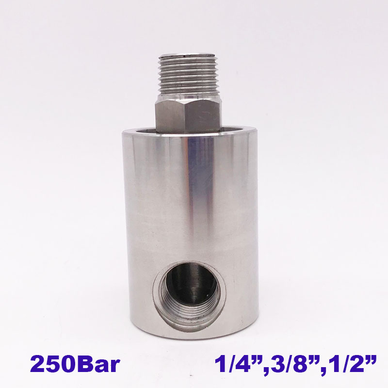 250Bar high pressure rotary swivel joint 50RPM 1 4 3 8 1 2 inch thread stainless