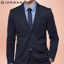 Giordano Мужчины Пиджаки Блейзер Нотч Дизайн Бренда Одежды Homme Masculina Мода Верхняя Одежда Пальто Платье Куртка Бренд(China (Mainland))