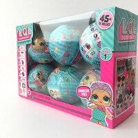 6pcs Set LOL Surprise Toys LQL Dolls Girls Cartoon LOL Surprise Doll Water Spray Surprise Egg