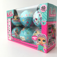 6pcs Set LOL Surprise Toys LQL Dolls Girls Cartoon LOL Surprise Doll Water Spray Surprise Egg