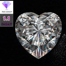 7*7mm DEF Heart Cut White  Moissanite Stone Loose Moissanite Diamond 1.10 carat for Ring цена