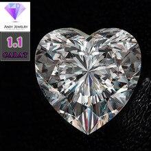 7*7mm DEF Heart Cut White Moissanite Stone Loose Moissanite Diamond 1.10 carat for Ring