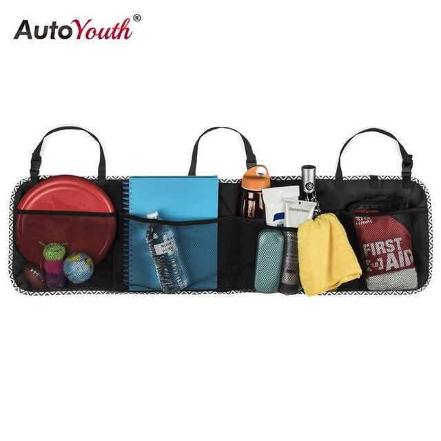 AUTOYOUTH BackSeat Trunk Storage Organizer - 5 Pocket Auto Interior, Perfect Car Organizer, Multipurpose Cargo Accessories