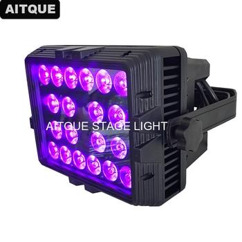 20 piezas equipo al aire libre led Luz de inundación 20x18w rgbwa lavado 5in1 ip 65 impermeable Wash led de pared led de color de la luz