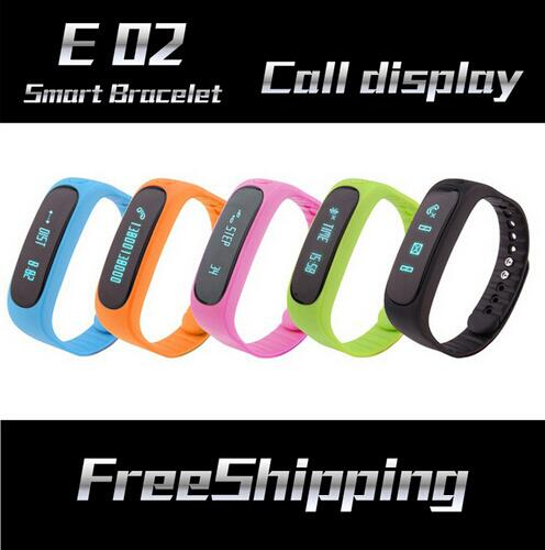 New E02 Smartband Smart bracelet Wristband Fitness tracker Bluetooth 4 0 OLED Watch for ios android