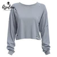 Adalisa Casual Women T Shirt Long Sleeve Autumn Spring O Neck White Grey T Tee Shirt