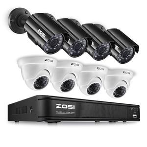 ZOSI 8CH CCTV System 720P HDMI TVI CCTV DVR 4PCS 1.0MP HD IR Night Vision Outdoor Home Security Camera Surveillance System Kit
