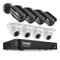 Nuevo Sistema de CCTV ZOSI 8CH 720P HDMI TVI CCTV DVR 4 Uds. 1.0MP HD IR visión nocturna al aire libre cámara de seguridad del hogar Kit de sistema de vigilancia