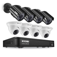 ZOSI 4CH CCTV System 720P HDMI AHD CCTV DVR 4PCS 1 0MP IR Night Vision Outdoor