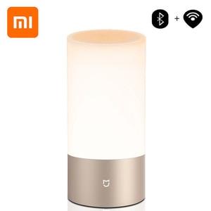 Image 1 - Xiaomi Mijia Mi Yeelight Bedside Lamp Table Desk Smart Indoor Light 16 Million RGB Touch Control Bluetooth Wifi for Mi home APP