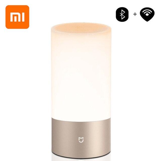 シャオ mi mi 嘉 mi Yeelight ベッドサイドランプテーブルデスクスマート屋内ライト 16 mi llion RGB タッチコントロール Bluetooth wifi mi ホームアプリ