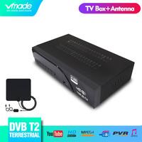 Full HD Digital Terrestrial DVB T2   TV     Receiver   Support YouTube PVR MPEG-2 / 4 H.265 HD 1080p DVB T2 Set Top Box with   TV   Antenna