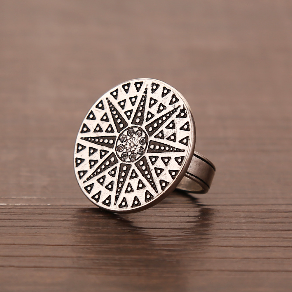 New Arrival Exaggerated Bohemian BOHO Rings Antique Silver Starlight Rings For Women Anniversary/Christmas Gifts Wholesale