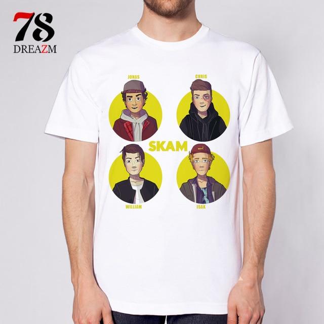 c7c523fa3 skam TV male t shirts New tShirt Men Mens T Shirt Man Short Sleeve T ...