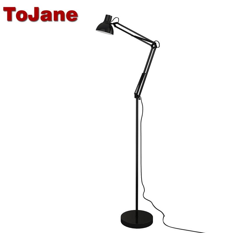Tojane Tg610 Led Reading Floor Lamp Classic Swing Arm