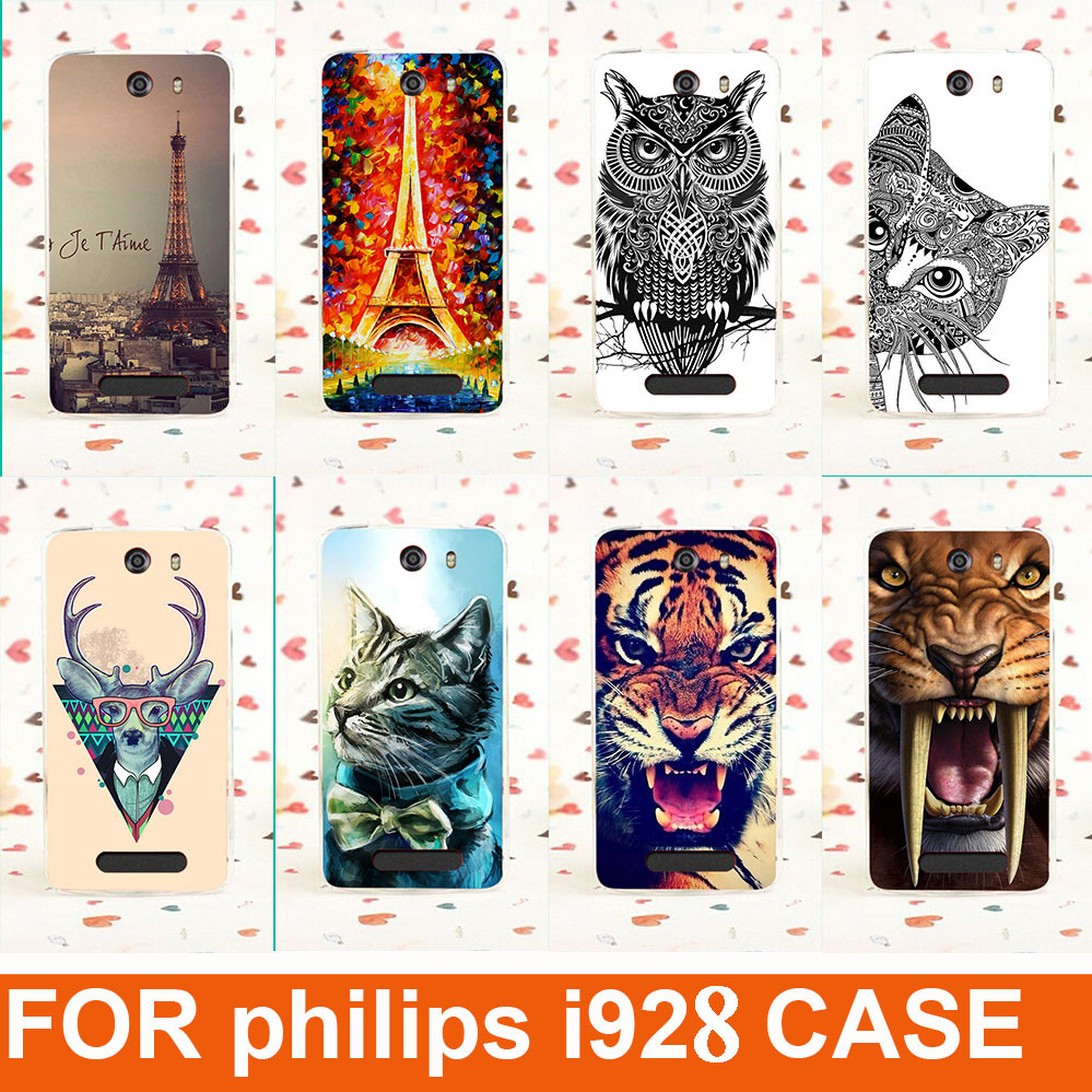 Case-Cover Skin Phone-Case Painting Philips I928 For 14-Patterns Gel Sheer Cute