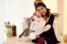 cartoon toy, large about 80cm cute cat plush toy soft throw pillow, birthday gift w5302