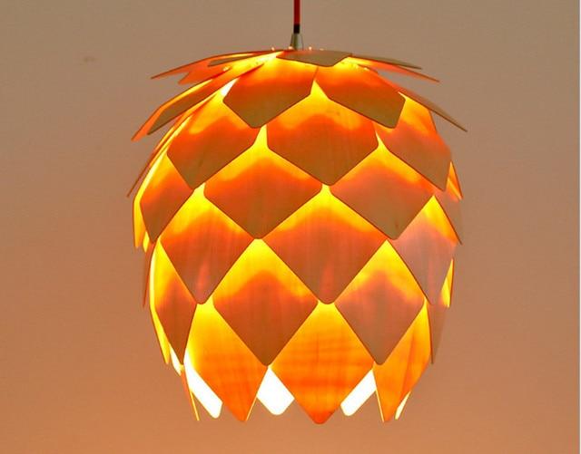 pinecone wooden pendant light scandinavian pendant lighting. home dining room pinecone pendant lamps modern wooden ph artichoke diy iq elements jigsaw puzzle bedroom light scandinavian lighting aliexpresscom
