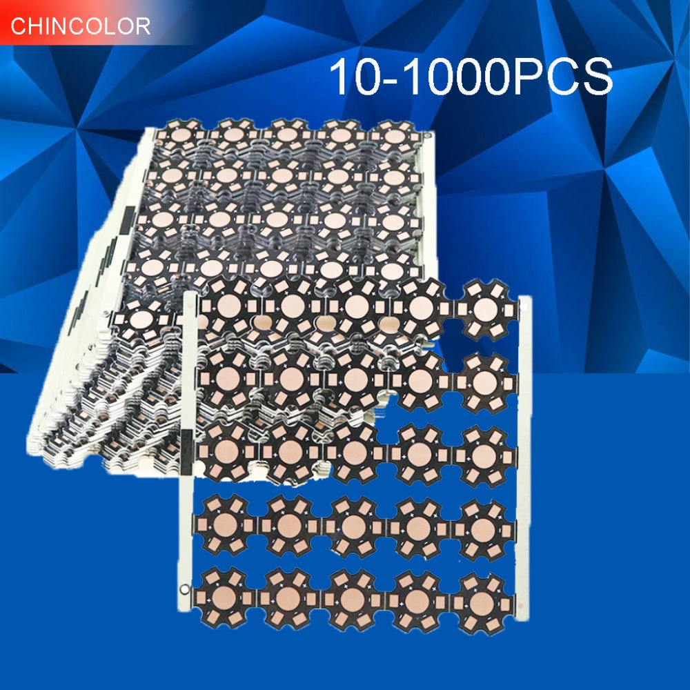 10-1000pcs 6Pin High power Aluminum Base Plate board LED Heat Sink Dia20mm for 1W 3W 5W Led Beads Chips DIY Light TR