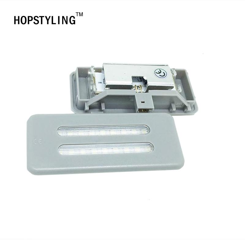2x Gray LED Vanity Mirror Light For BMW E60 E61 E90 E91 E92 E70 E71 E84 Reading interior lights car-styling auto lighting