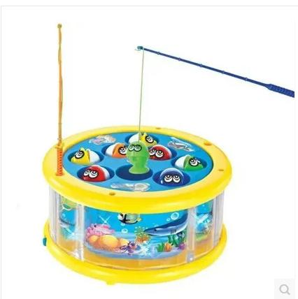 Electric Rotary Underwater World Music Parent-child Fishing Toys Educational Battery Operated Sounding Unisex Electronic