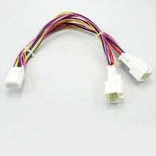 Adaptador Y Cable Divisor 6 + 6 Enchufe para Audio Navi AUX CDC Tuning para Toyota Lexus