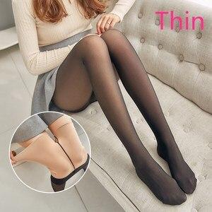 Image 5 - SVOKOR Leggings épais en maille pour femmes, pantalons chauds et chauds pour lhiver