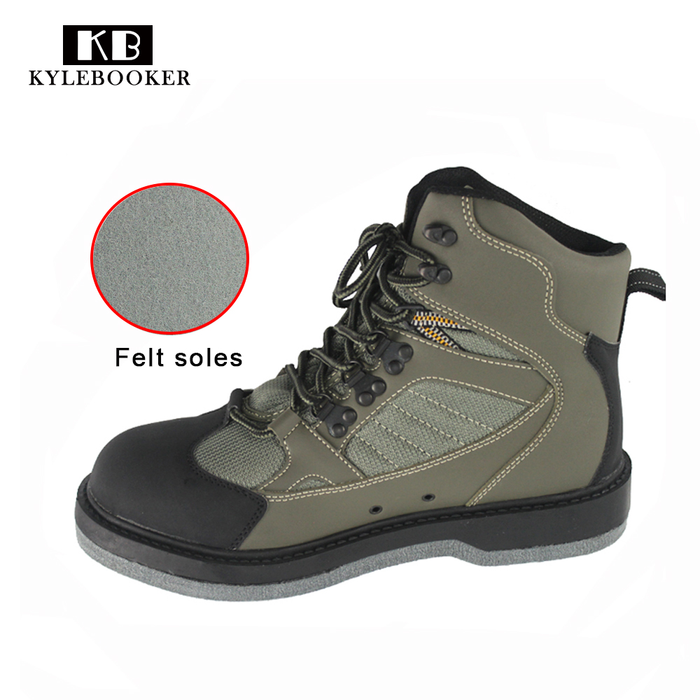 Men s Hunting Wading Shoes Breathable Waterproof Boot Outdoor Fishing Anti slip Wading Waders Felt Soles