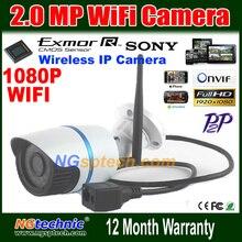 Sunvision Onvif 2.0MP 1080 P HD Открытый Камеры ВИДЕОНАБЛЮДЕНИЯ wi-fi P2P Плагин Играть Ик-Ночного Видения Водонепроницаемый Крытый 1920*1080 P