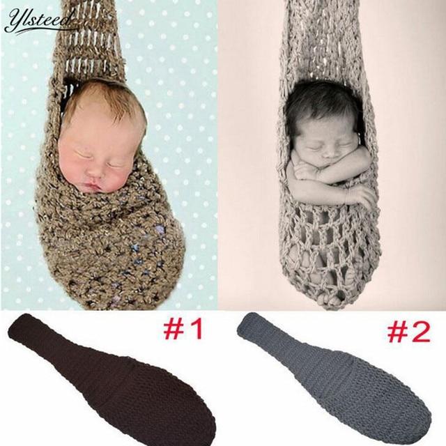 90758d32ef49 Детские Подставки для фотографий кроватью висит гамак сачок спальный мешок  младенца вязания крючком сумка SAC de