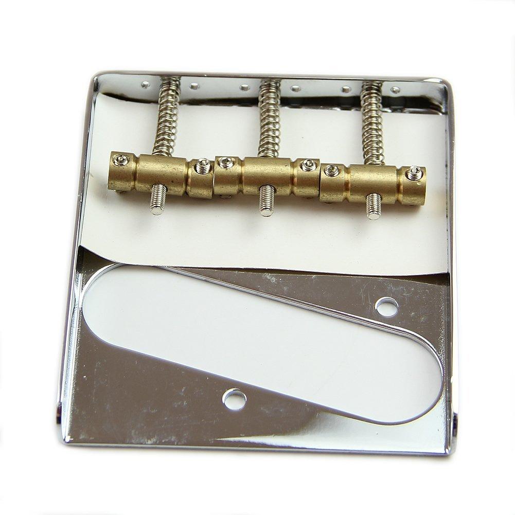 8pcs Silver Chrome 3 Copper Saddle Ashtray Bridge For Telecaster TELE Electric Guitar ashtray