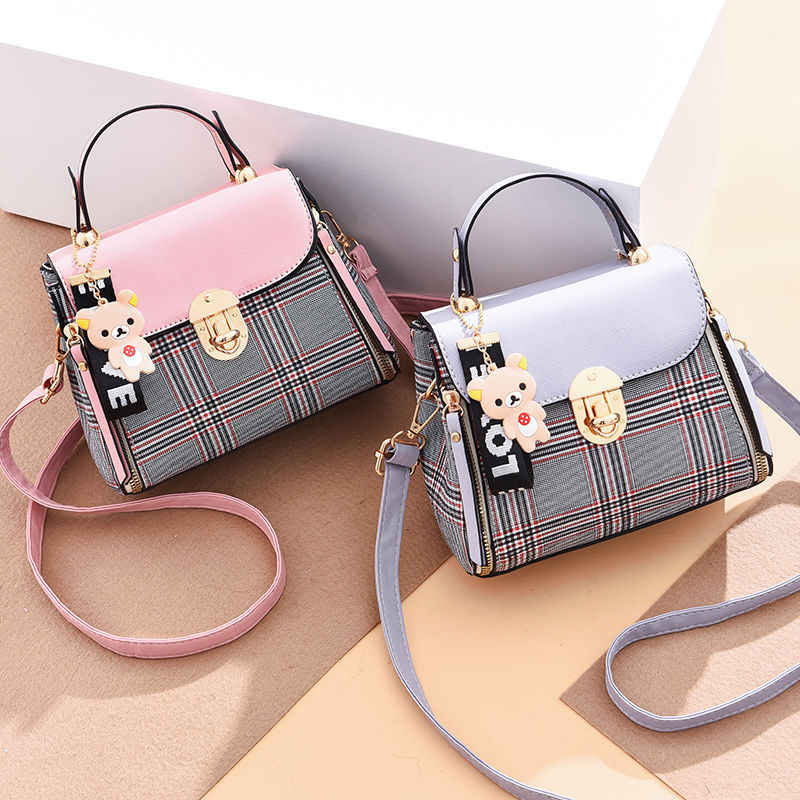 New PU Candy Color Female Crossbody Bag Soft  High Quality 2019 Hot Sale Small Girls Exquisite Color Matching Casual  Simple Bag