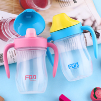 FGA 320ML Resistant Plastic Space Cup Children S Mini Cup Students Fell Portable Leak Proof With