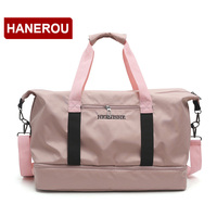 HANEROU Large Women Casual Travel Bags Large Capacity Women Travel Bag Hand Luggage Waterproof Nylon Shoulder Bag Handbag