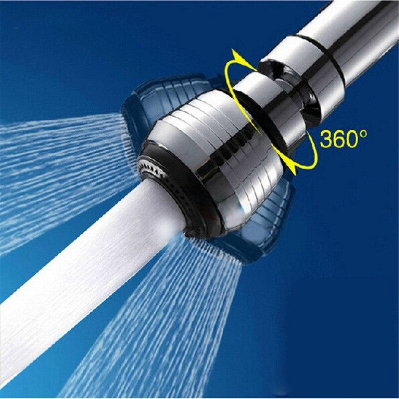 360 Degree Kitchen Faucet Water Bubbler Swivel Head Adapter Water ...