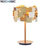 BOCHSBC Gold Stainless Steel Table Lights New Designer Gold Desk Lamp for Living Room Bedroom Fashion Bedside Lampara de mesa