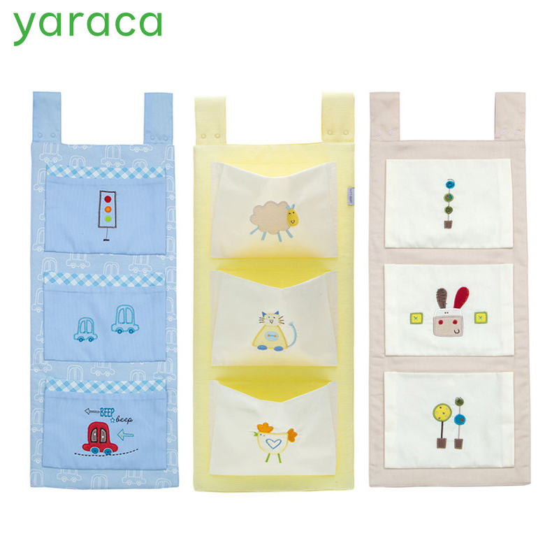 Cotton <font><b>Baby</b></font> Crib Organizer Cot Hanging Bag Diaper Storage for <font><b>Baby</b></font> <font><b>Bedding</b></font> <font><b>set</b></font> image